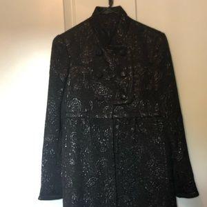 Jill Stuart Black Coat Size 6